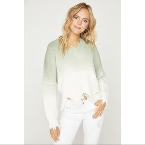 Below Deck Distressed Ombre Sweater